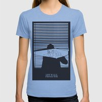 Man in the Mask -Watching your Walls Womens Fitted Tee Athletic Blue SMALL