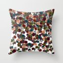 mini floral Throw Pillow