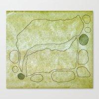 Rock Map Canvas Print