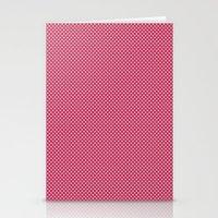 Dark Pink Spotty Pattern Stationery Cards