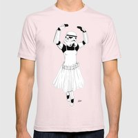 Ballerinatrooper Mens Fitted Tee Light Pink SMALL