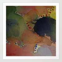 Watercolor Abstract Mini Series #1 Art Print