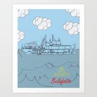 Zissou Boat Art Print