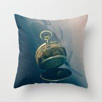Clock 2 Throw Pillow
