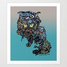 Dragon Cat (Color) Art Print