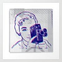 3D Camera Art Print
