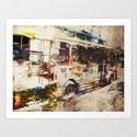Double Decker Bus Art Print