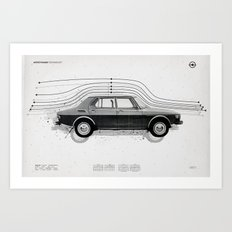 Aerodynamic Technology Art Print