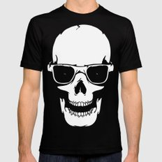 Skull in shades SMALL Black Mens Fitted Tee