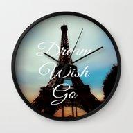 Dream Wish Go Wall Clock