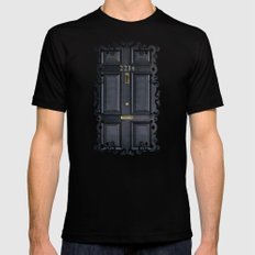 Classic Old sherlock holmes 221b door iPhone 4 4s 5 5c, ipod, ipad, tshirt, mugs and pillow case Mens Fitted Tee Black SMALL