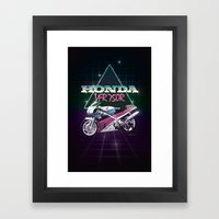80s Motorcycle Poster Framed Art Print