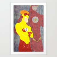 Kid Flash, Today is the Day Art Print