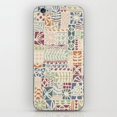 patchwork iPhone & iPod Skin
