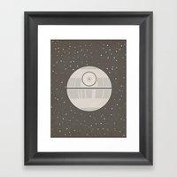 Death Star DS-1 Orbital … Framed Art Print