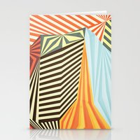 stripes Stationery Cards featuring Yaipei by Anai Greog