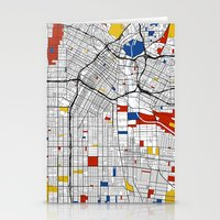 los angeles Stationery Cards featuring Los Angeles by Mondrian Maps