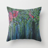 Chinampas Throw Pillow