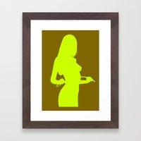silhouette 3 Framed Art Print