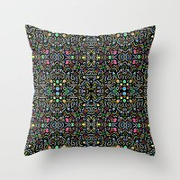 retro confetti Throw Pillow