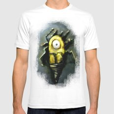 Abstract Robot  Artwork Mens Fitted Tee SMALL White