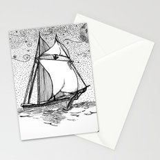 message in a bottle Stationery Cards