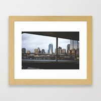 seattle by sea. Framed Art Print