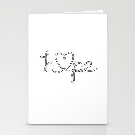 Hope. Stationery Card