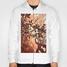 Cute fairy flying in a fantasy forest Hoody