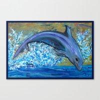 Dolphin 3 Canvas Print