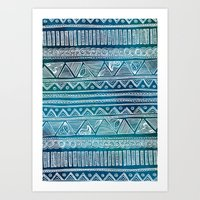 Hippie Pattern Art Print