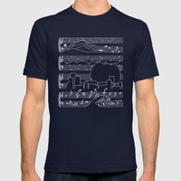 The Moonlight Sonata Blu… Mens Fitted Tee Navy SMALL