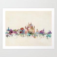 Milan Italy Skyline Art Print