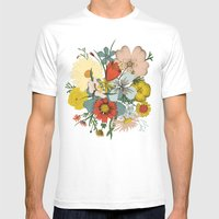 Flower Wad Mens Fitted Tee White SMALL