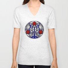 Celtic Cyberman brooch Unisex V-Neck