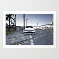 Mercedes AMG C63S Art Print