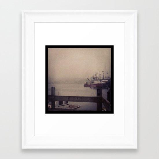 Gloucester Harbor Framed Art Print