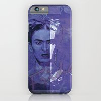 iPhone & iPod Case featuring Frida Kahlo - between worlds - blurple by ARTito