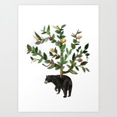 The wind is in the trees, the trees have its brances, the branches have its leaves Art Print
