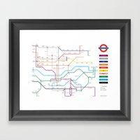 Type Tube Framed Art Print