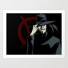 V for Vendetta (e1) Art Print