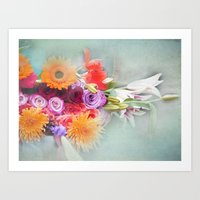 Romantic Bouquet Art Print