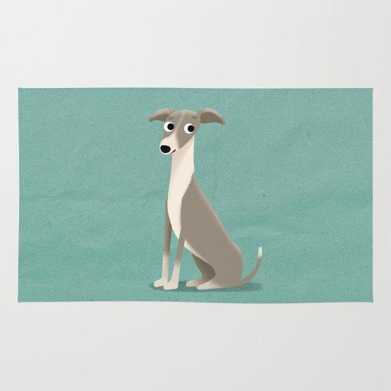 Greyhound - Cute Dog Series Area & Throw Rug