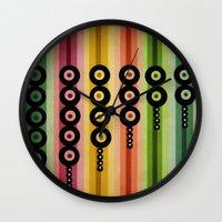Door Beads Wall Clock
