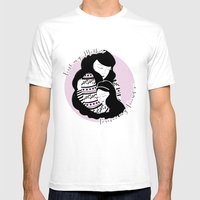 Mother And Daughter Mens Fitted Tee White SMALL