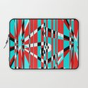 Grid Square TV Crazy Laptop Sleeve