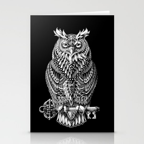 Great Horned Owl Stationery Card
