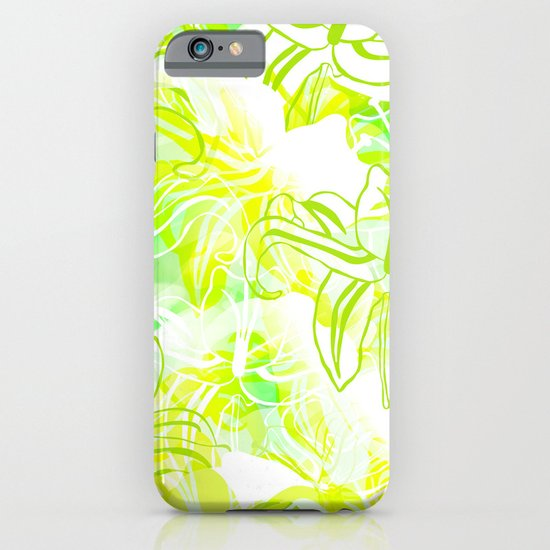 Green Flowers iPhone & iPod Case