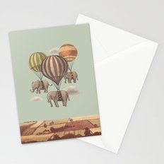 Flight of the Elephants - mint option Stationery Cards