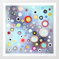 Nebulous Blue Abstract C… Art Print